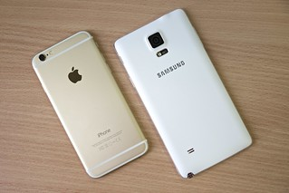 Samsung Galaxy Note 4, Apple iPhone 6 | by Janitors