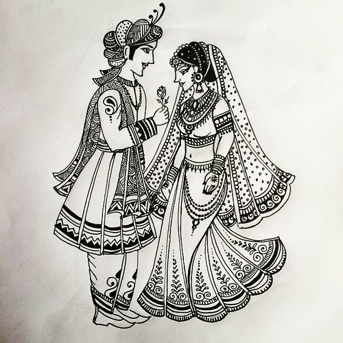 Another Indian Bride And Groom Pattern I Designed Today Fo