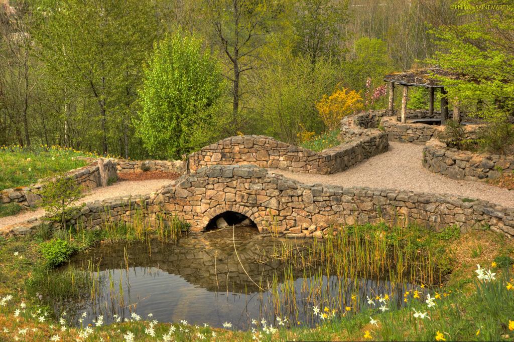 ... Pont En Pierre Dans Le Jardin De Berchigranges   Stone Bridge In  Berchigranges Garden | By