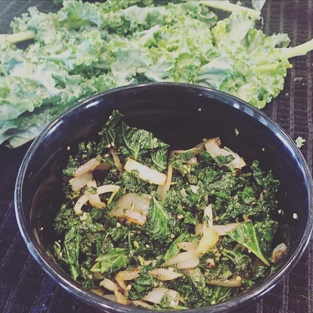 Sautéed Kale w/ Onions & Garlic