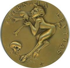 ERUDITA VANITAS Medal by John Cook obverse