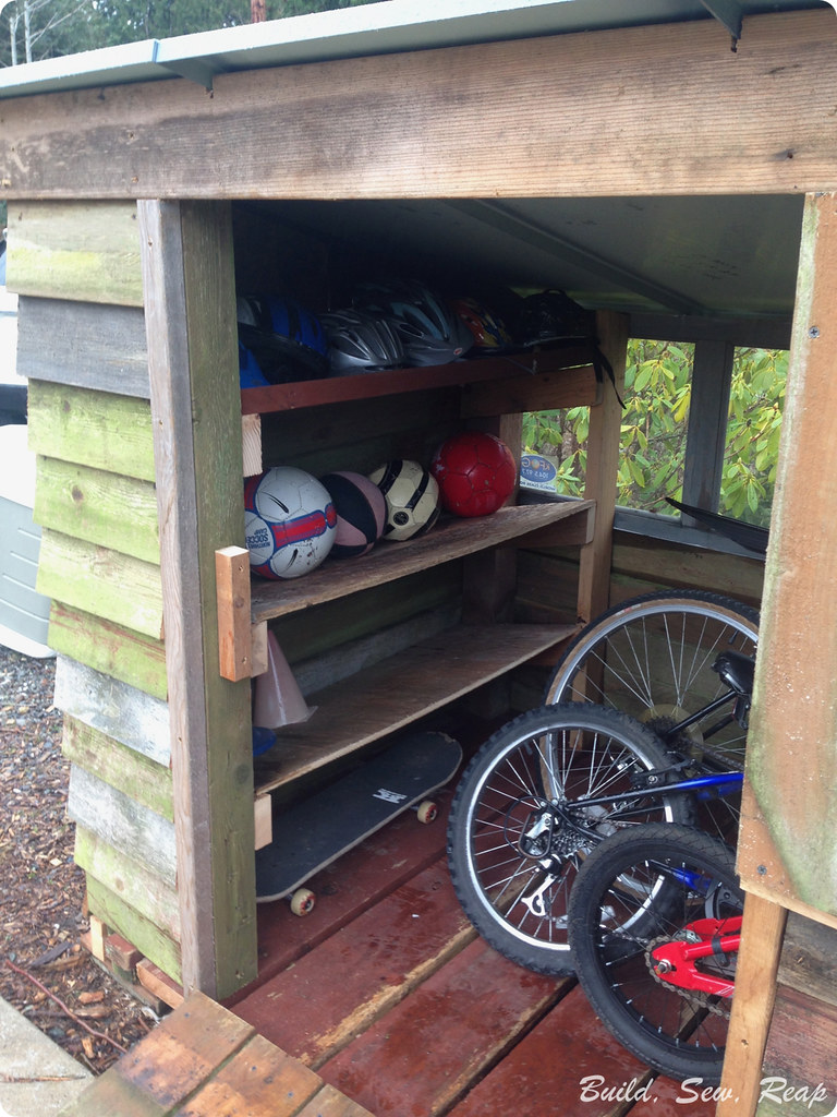 Bike Garage Build by Julie at Build Sew Reap