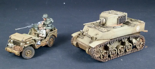 Bolt Action - US Willy Jeep & M5 Stuart