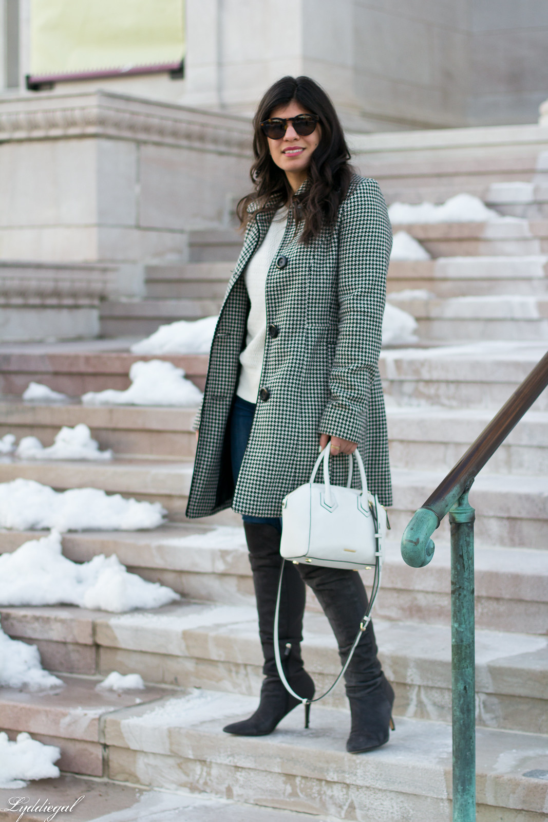 houndstooth coat, white sweater, grey over the knee boots-10.jpg