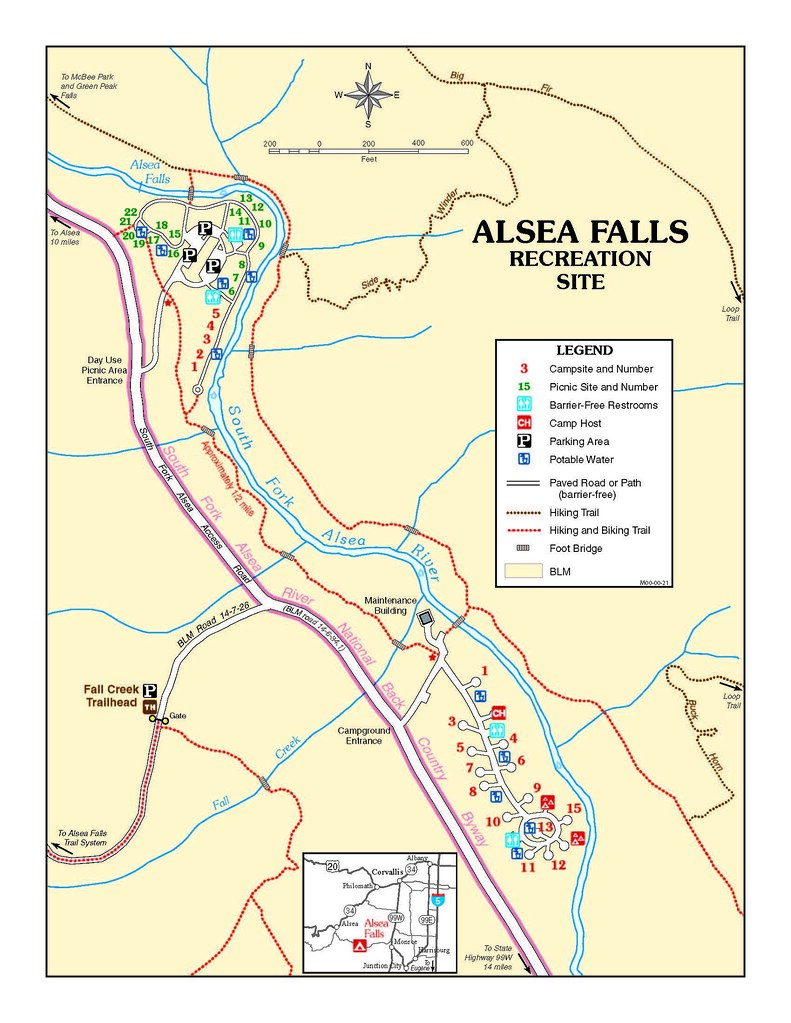 Alsea Oregon Map.Alsea Falls Recreation Site Map Alsea Falls Recreation Are Flickr