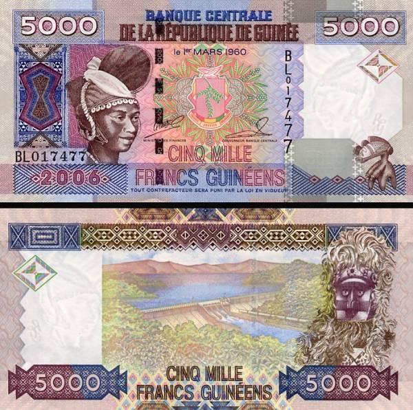 5000 Frankov Guinea 2006, P41a
