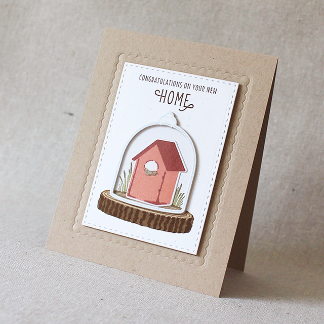 New Home Cloche Card