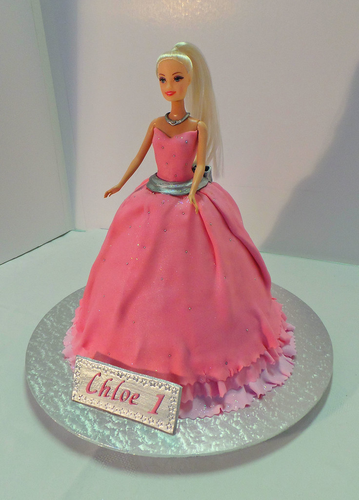 Barbie Doll Birthday Cake Design Was Brought In By Client Flickr