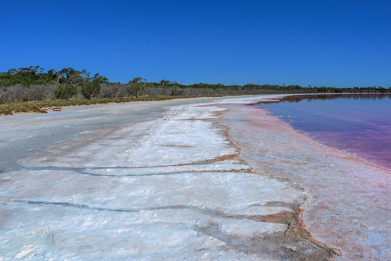 Pink Lake. State of Victoria.