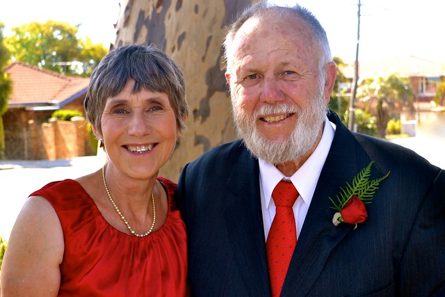 Paul & Jill Weaver at the first wedding in our large family, December 2013