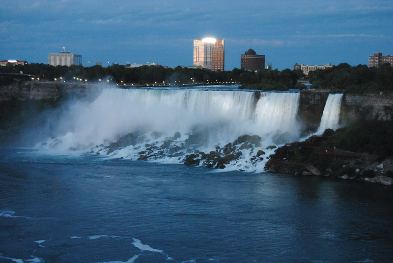 American Falls and Bridal Veil Falls from Niagara Falls, Ontario