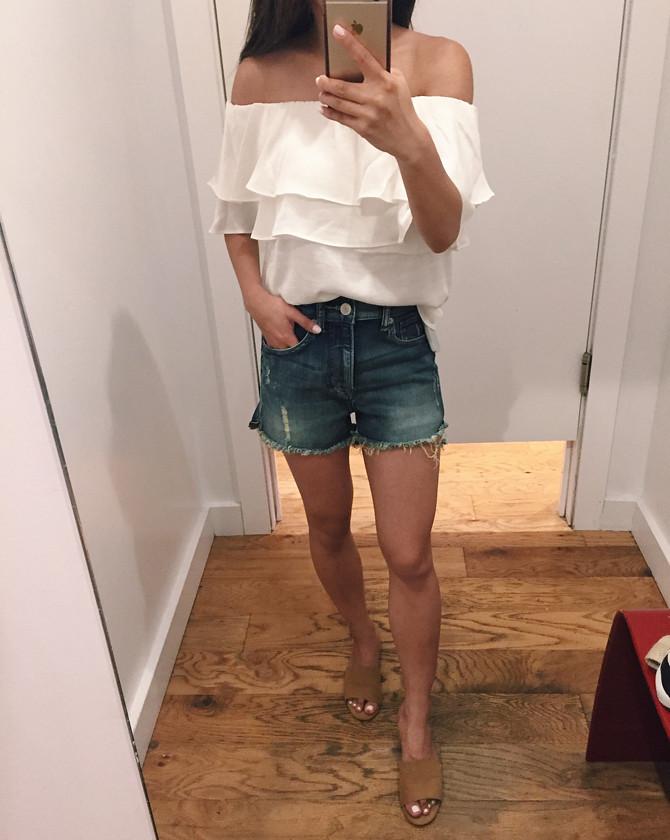 express cutoff distressed denim shorts review petites