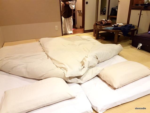 Daiichi Hotel tatami beds