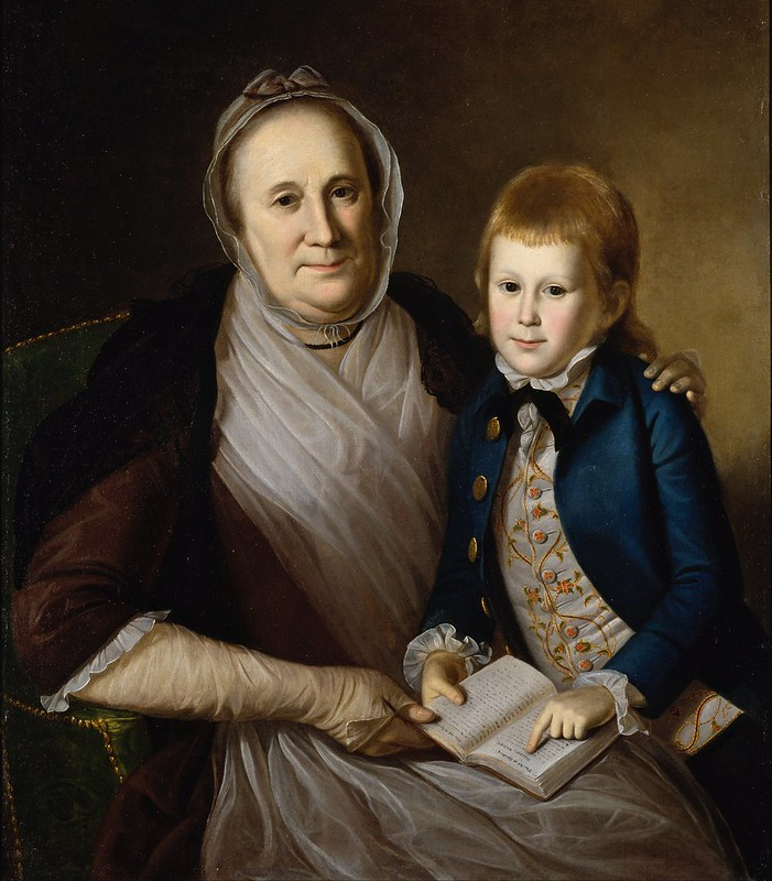 Charles Willson Peale - Mrs. James Smith and Grandson (1776)
