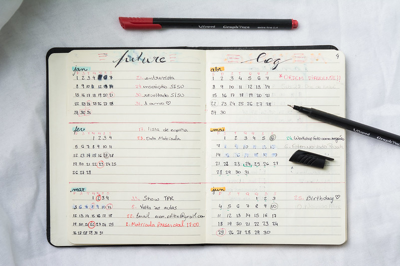 Bullet Journal - Future Log