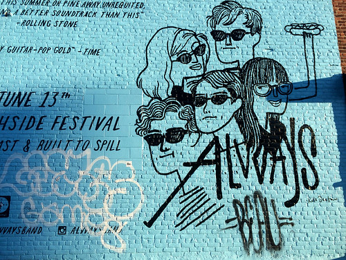 Alvvays Mural NY (April 3 2016)
