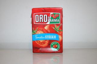 15 - Zutat stückige Tomaten / Ingredient tomato pieces