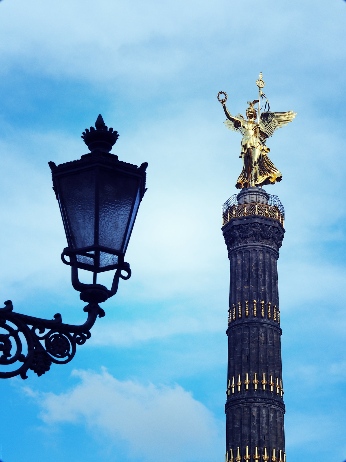 Victory Column Creative Photography Berlin Gold _effected