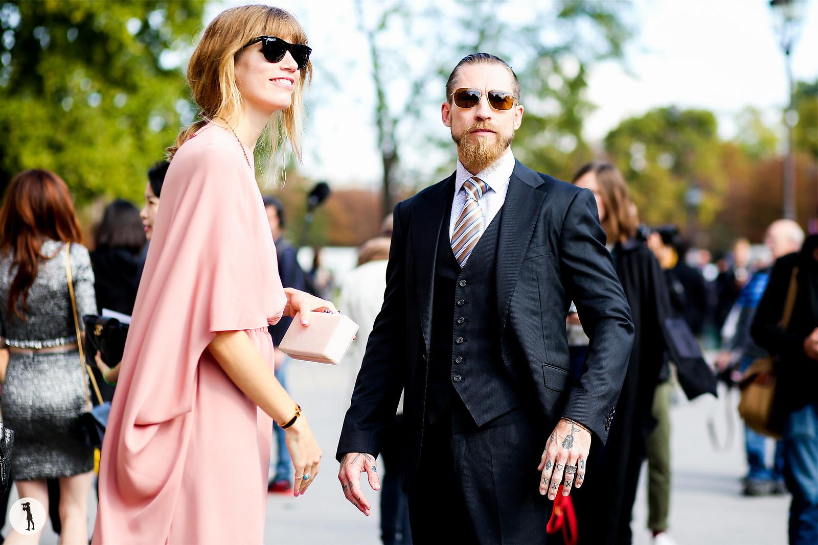 Veronika Heilbrunner and Justin Oshea - Paris fashion week RDT SS15 (2)