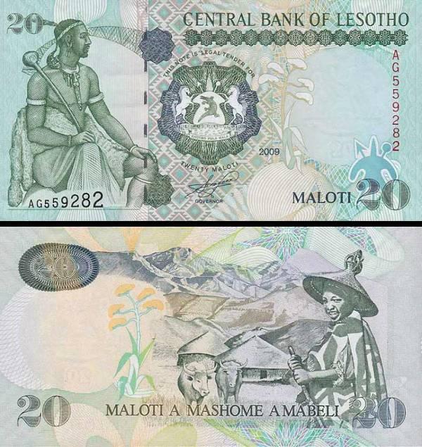 20 Maloti Lesotho 2009, P16g