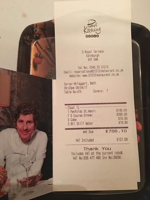 Michelin 089 paul kitching,  food bill