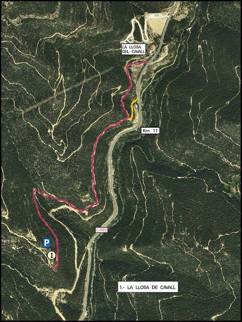 La Vall de Lord - Acceso -04- Acceso Sector Llosa de Cavall