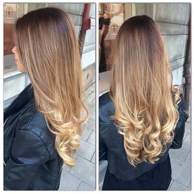 ombre hår frisör