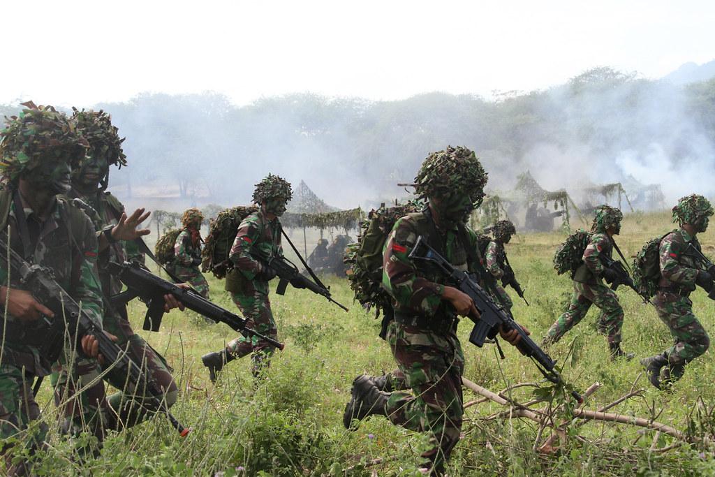 Operasi Darat Gabungan Pasukan Infanteri Tni Ad Bergerak D Flickr