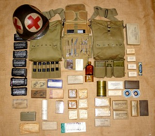Ww 2 Us Combat Medic Supplies This Is A Collection Of