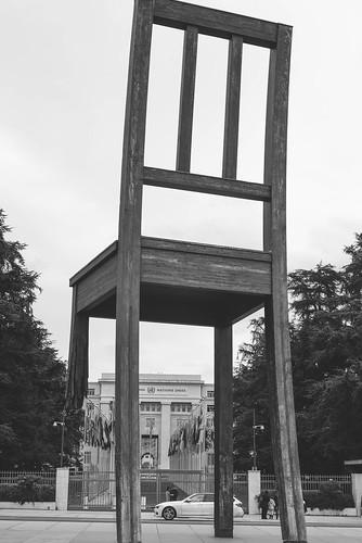 broken chair geneva switzerland in april 2014 uppy chatterjee flickr. Black Bedroom Furniture Sets. Home Design Ideas