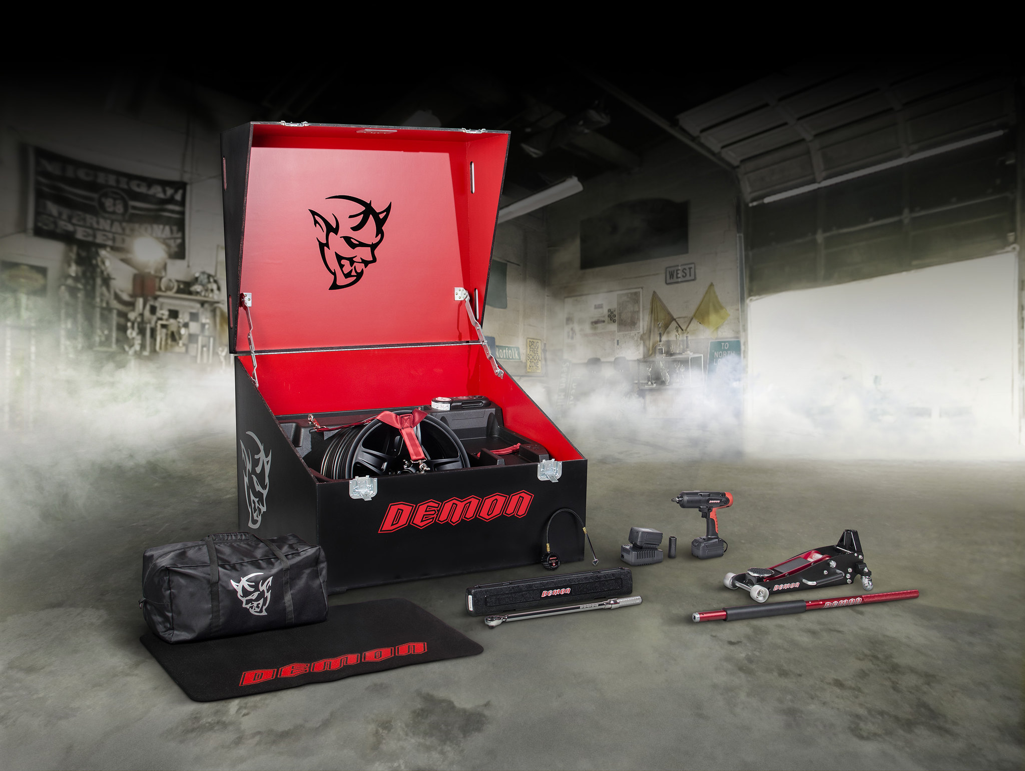 Dodge Challenger SRT Demon's custom crate loaded for speed