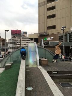 恵比寿駅前の噴水ってミニ公園みたいなものですよ