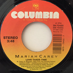 MARIAH CAREY:LOVE TAKES TIME(LABEL SIDE-A)