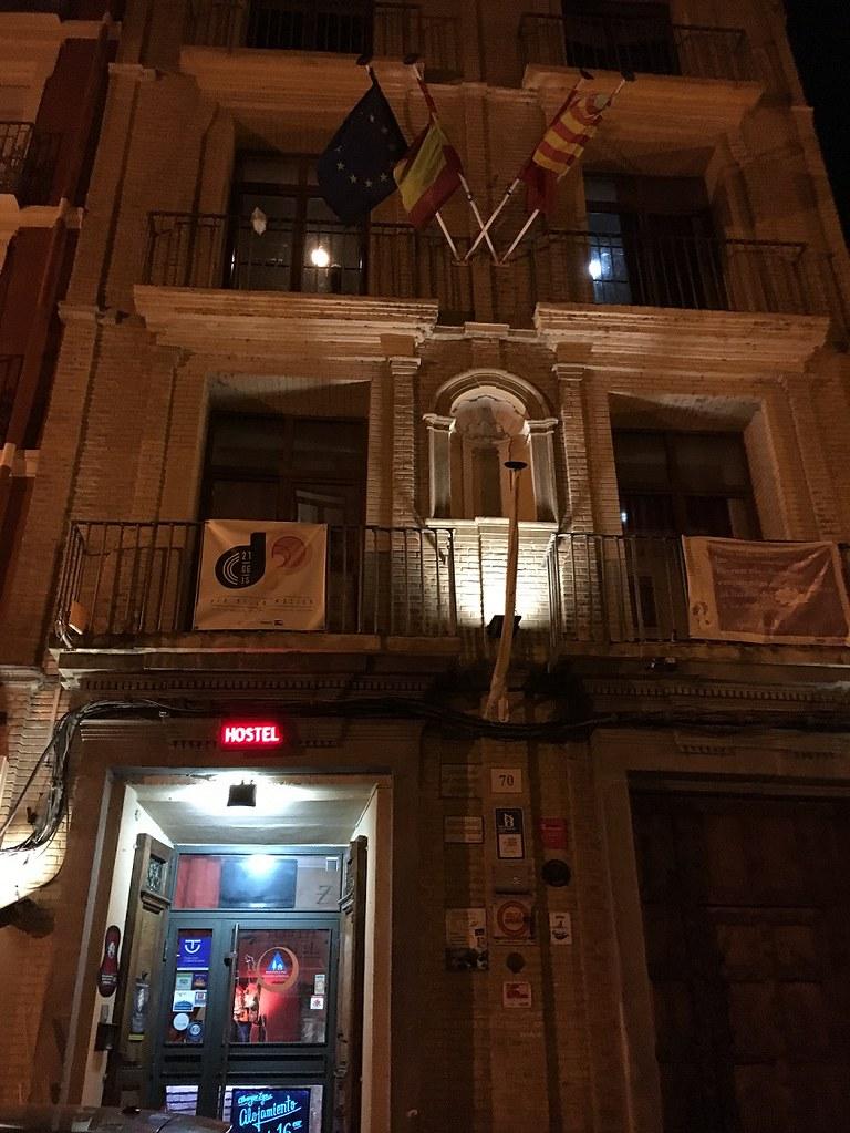 Fachada del Albergue de Zaragoza