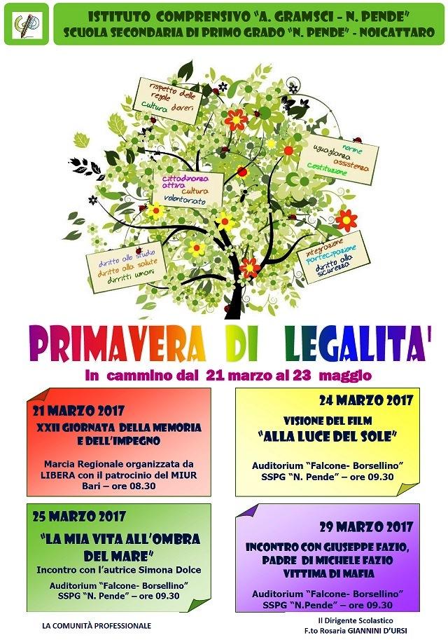 Noicattaro. Primavera di Legalità Pende intero
