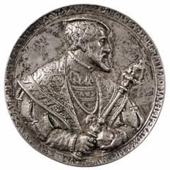 1537 Silver Medal of Karl V obverse