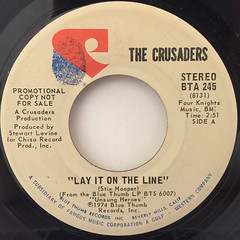 THE CRUSADERS:LAY IT ON THE LINE(LABEL SIDE-B)