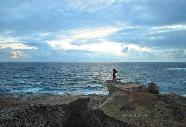 makadlaw rock formation biri island sunrise