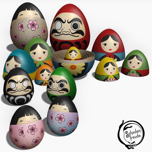 nesting eggs