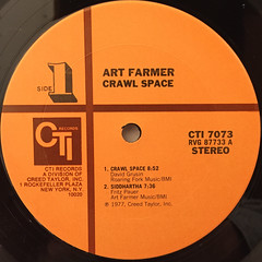 ART FARMER:CRAWL SPACE(LABEL SIDE-A)