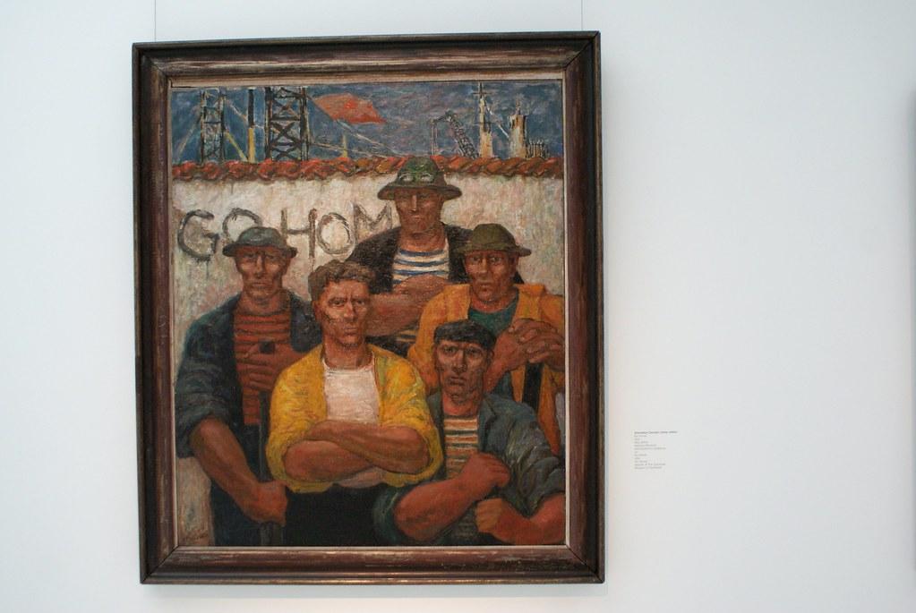 "Stanislaw Dowski ""Go Home"" (1952) Musée national d'art moderne de Wroclaw en Pologne."
