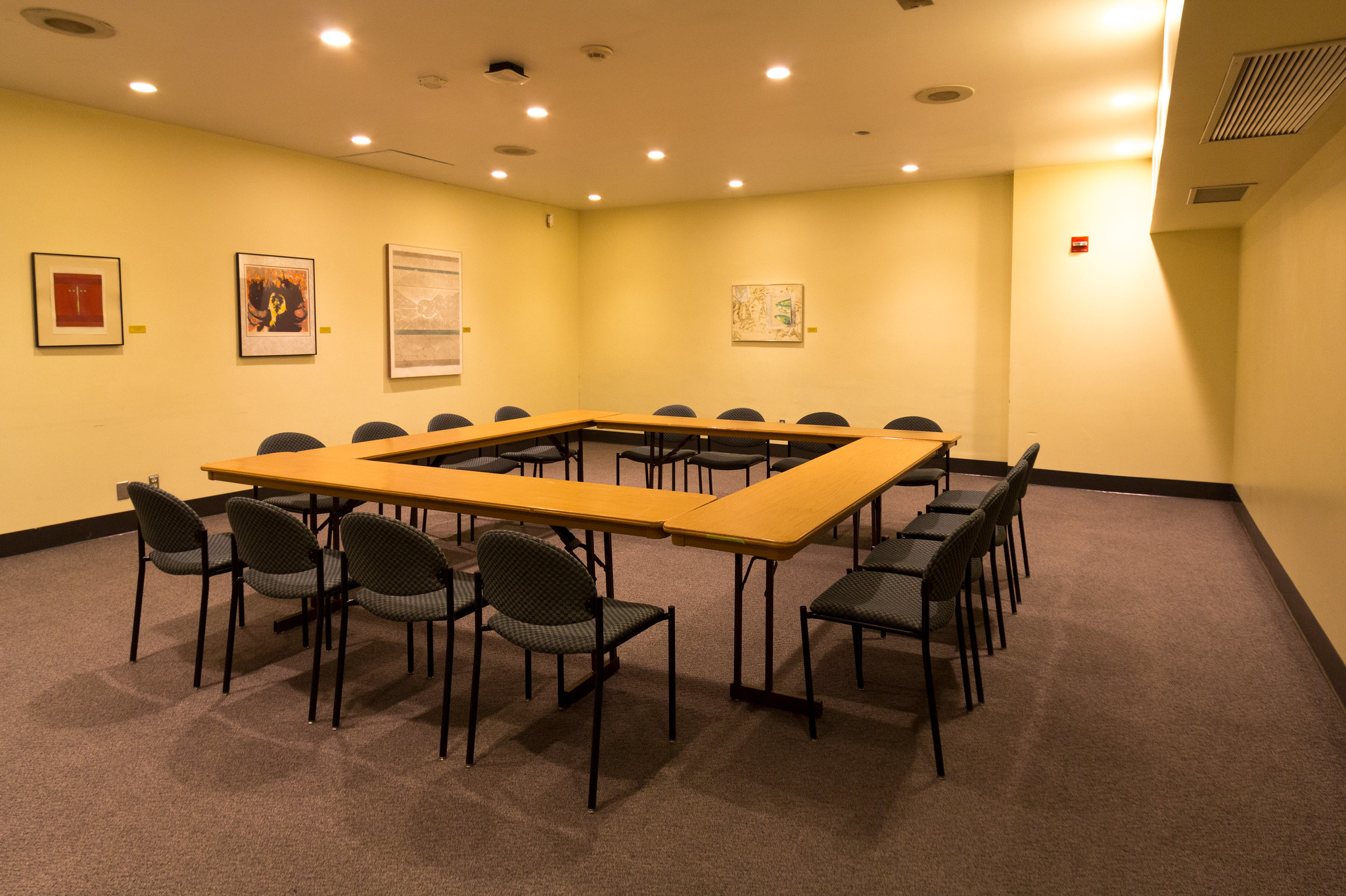A conference room available for meetings