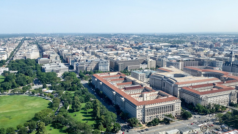 View from the top of Washington Monument. Photo: Richard