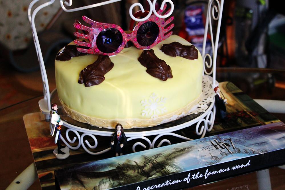 My Frozenharry Potter Themed Birthday Cake By Rachel Flickr