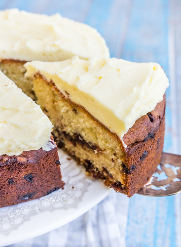 Chocolate Chip Buttermilk Cake with Orange Icing | by raspberri cupcakes
