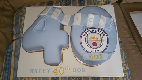 Manchester City 40th numbered birthday cake | by platypus1974
