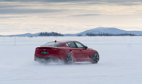 Kia Stinger photo shots from the extreme weather testing