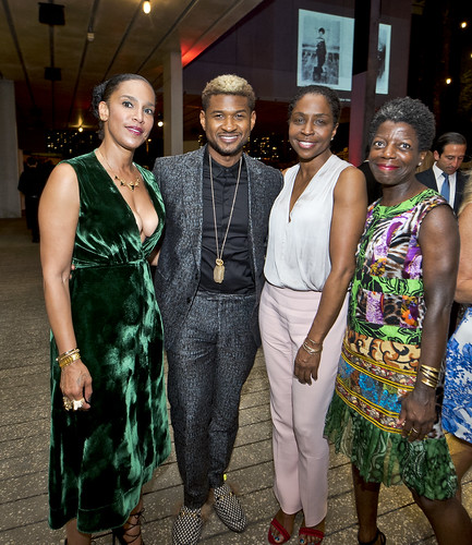 Grace Miguel, Usher Raymond, Lorna Simpson & Thelma Golden at PAMM Art of the Party Presented by Valentino