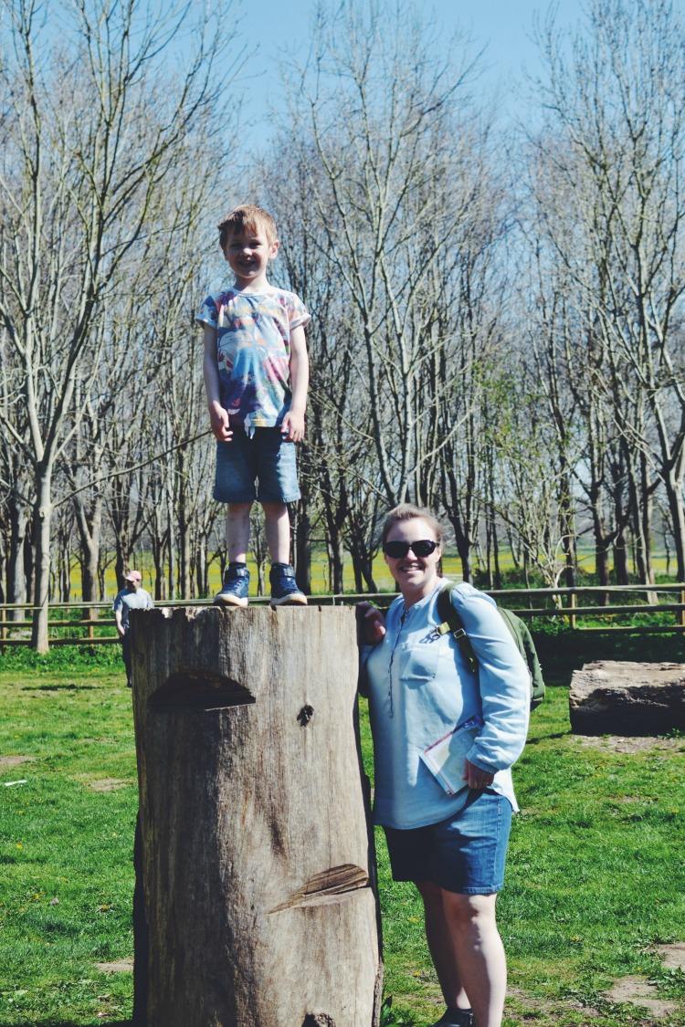 Tall boy and Mummy