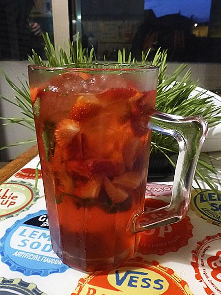 cocktail aux fraises